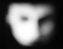 blurry image of a face that may be a ghost face